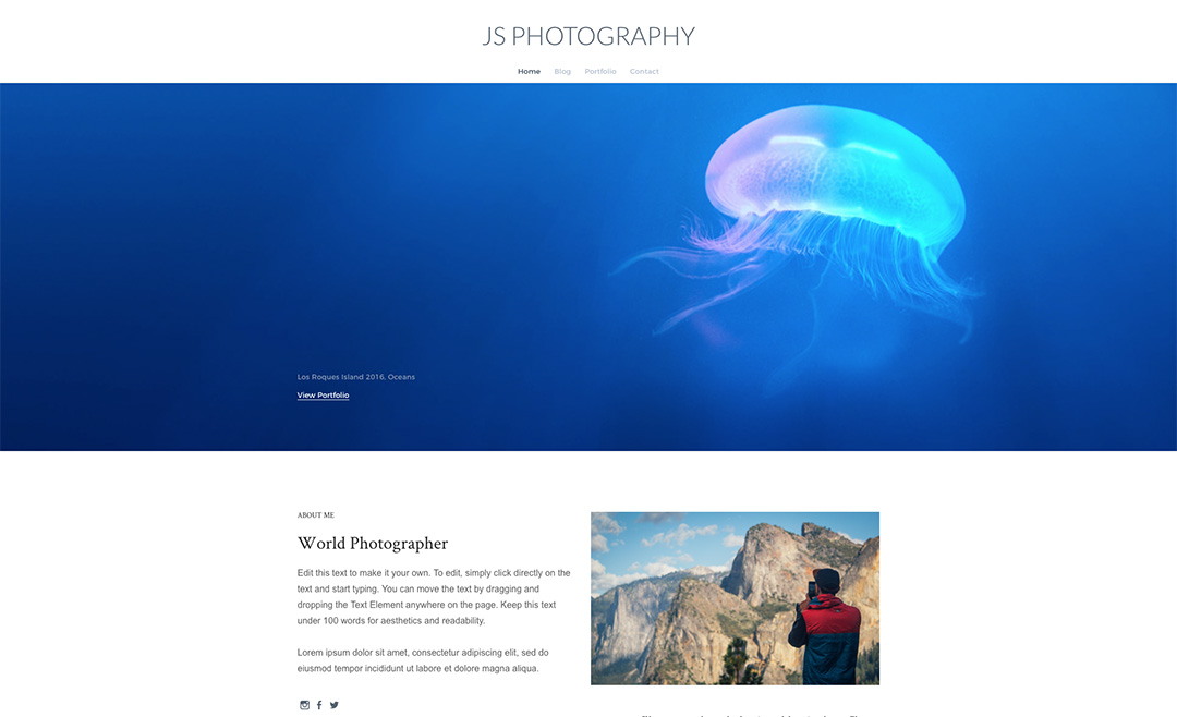 thème Weebly Journey